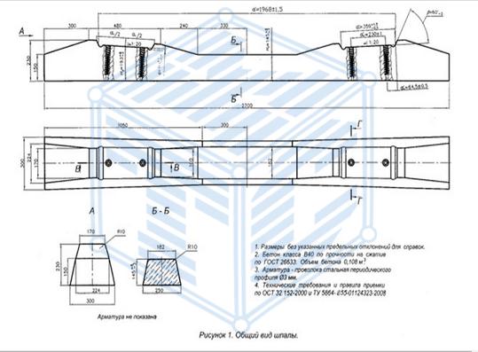Шпала Ш-3Д чертеж