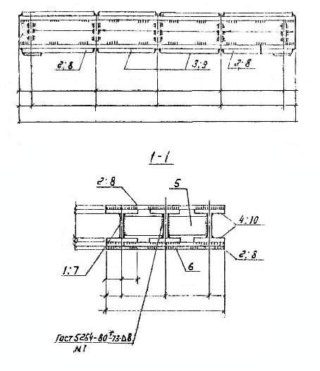 Железнодорожные балки Д-9 чертеж