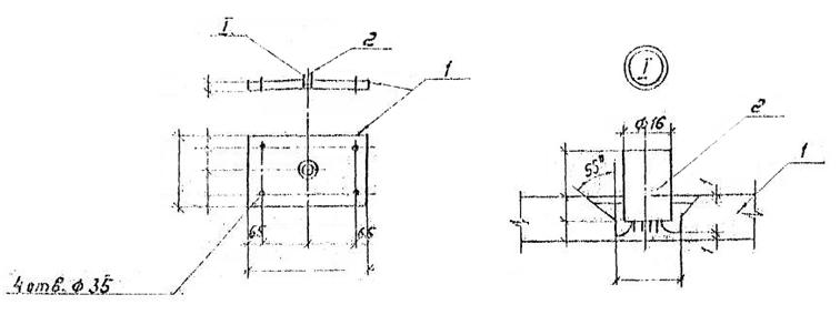 Крепежный элемент Д-1. Чертеж.
