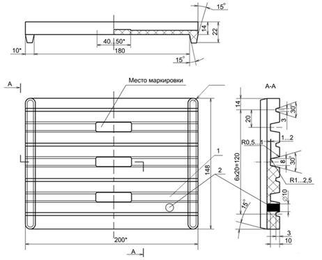 Прокладка ЦП-204 чертеж