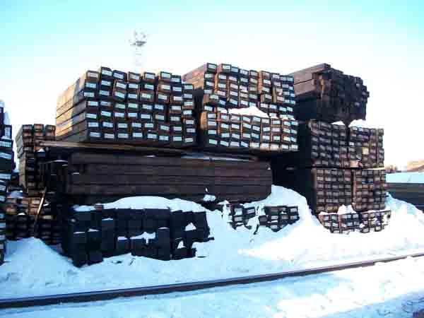 Деревянная шпалы, пропитанные по ГОСТ